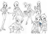 Раскраски девочек винкс и игра раскраска (Coloring winx)